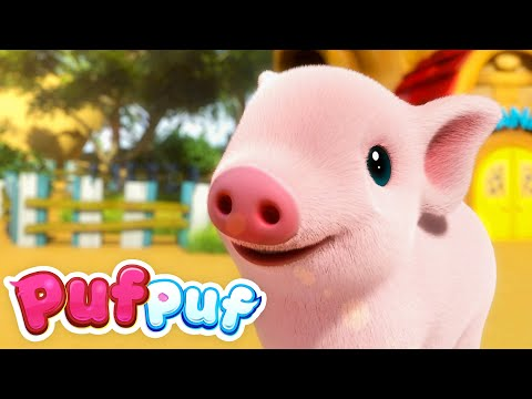 Un purcelus – Cantece cu animale | Cantece educative pentru copii de gradinita | Cantece Puf Puf – Cantece pentru copii in limba romana