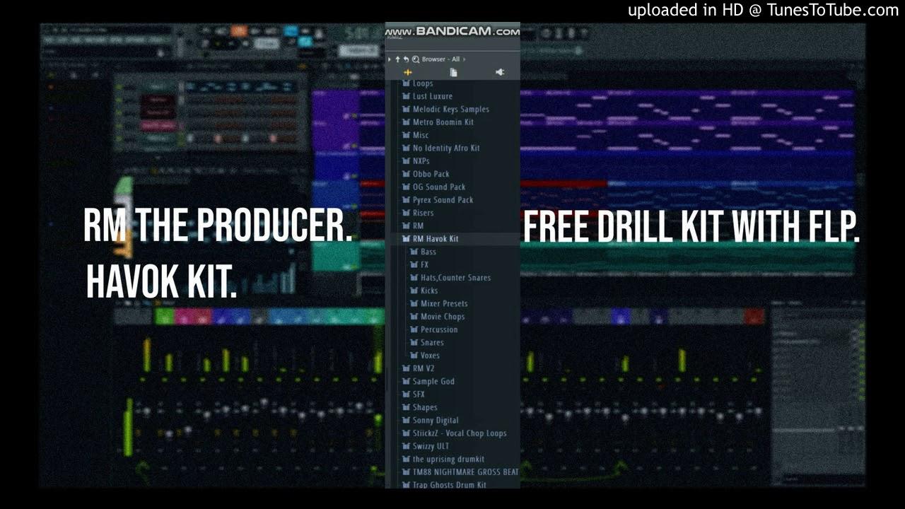 [FREE DRUMKIT] RM The Producer - RM Havok KIT [UK DRILL] + FREE FLP WAV  DRUM KIT 2019