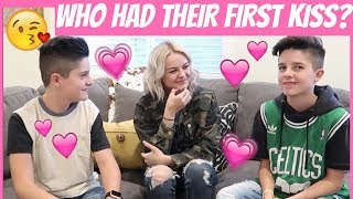 WHO HAS HAD THEIR FIRST KISS😘? FT. KESLEY JADE | Brock and Boston