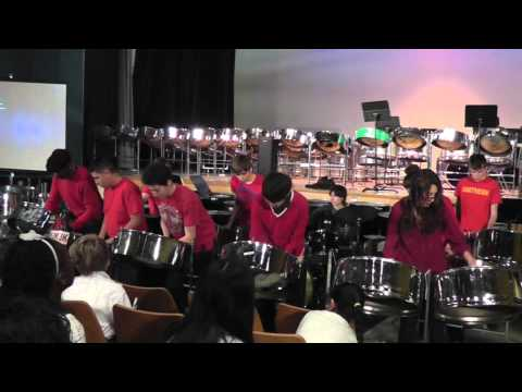 Northern SS steel pan plays