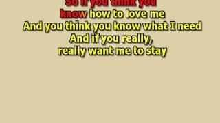 if you think you know how to love me Smokie best karaoke instrumental lyrics