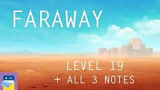Faraway: Puzzle Escape: Level 19 Walkthrough + All 3 Letters / Notes (by Mousecity & Pine Studio)