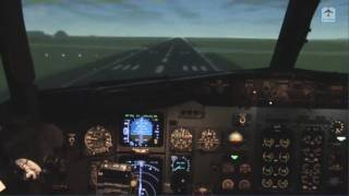 Boeing 737 real flight simulator full traffic circuit (take-off & landing)