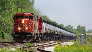 RAILREEL CN Oil Trains OSR Ingersoll Ontario 5 30 2014