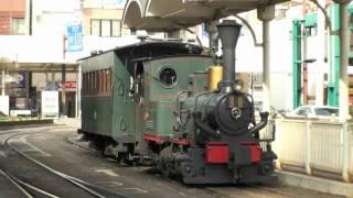 【伊予鉄道】 坊ちゃん列車の方向転換@松山市駅前 (14-Mar-2010)