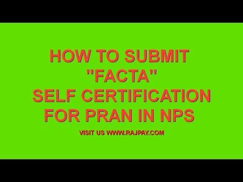FATCA Self Certification Form - YouTube