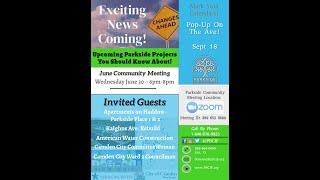 Parkside June 2021 Community Meeting