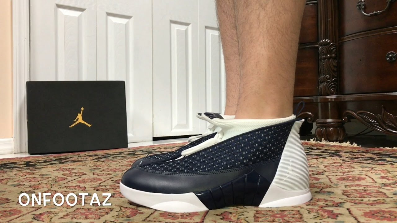 91febcf949d248 Air Jordan 15 XV Obsidian On Foot - YouTube