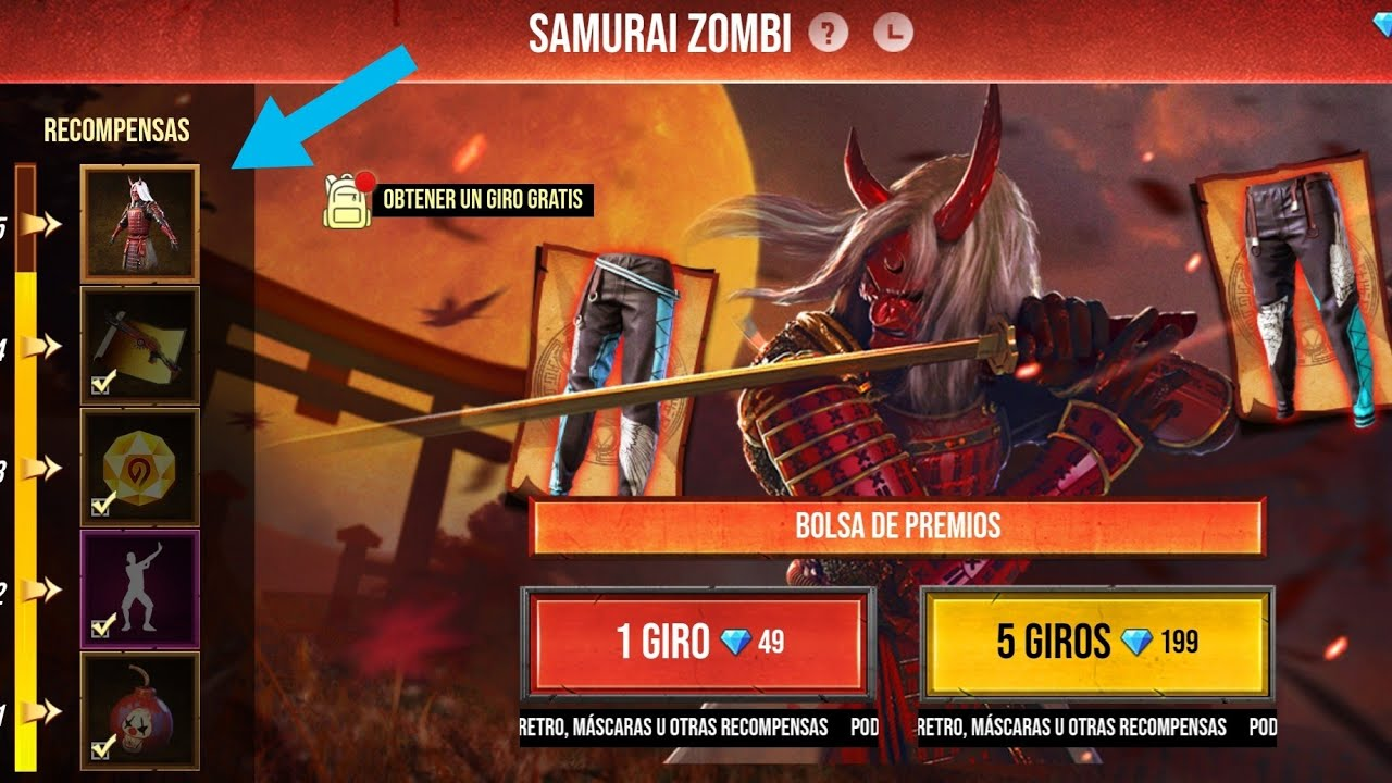 Evento Samurai Zombie Y Pantalones Angelicales De Free Fire 2020 Youtube