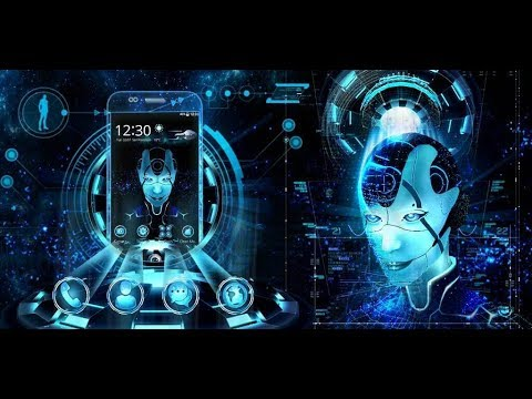 Future Tech - Neon Alien Girl 3D Theme | UPDATE 2017 YEAR!