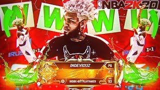 I attempted to WIN RUSH 1v1 SHOOTING ALL 3 POINTERS WITH MY NEW INSIDE-OUT PLAYMAKER! BEST BUILD!