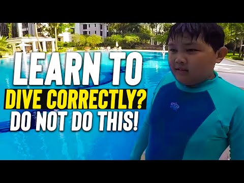 Beginner LEARN to DIVE to improve SWIM diving start