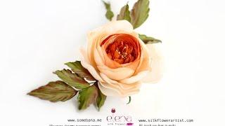 Цветы из ткани. Мастер класс роза Магдалина. Японская техника цветоделия АRТ-студия Новый цветок(Приобрести полную версию этого видео мастер класса вы можете на нашем официальном сайте: http://www.somebana.me/magdalene...., 2014-02-20T22:42:03.000Z)
