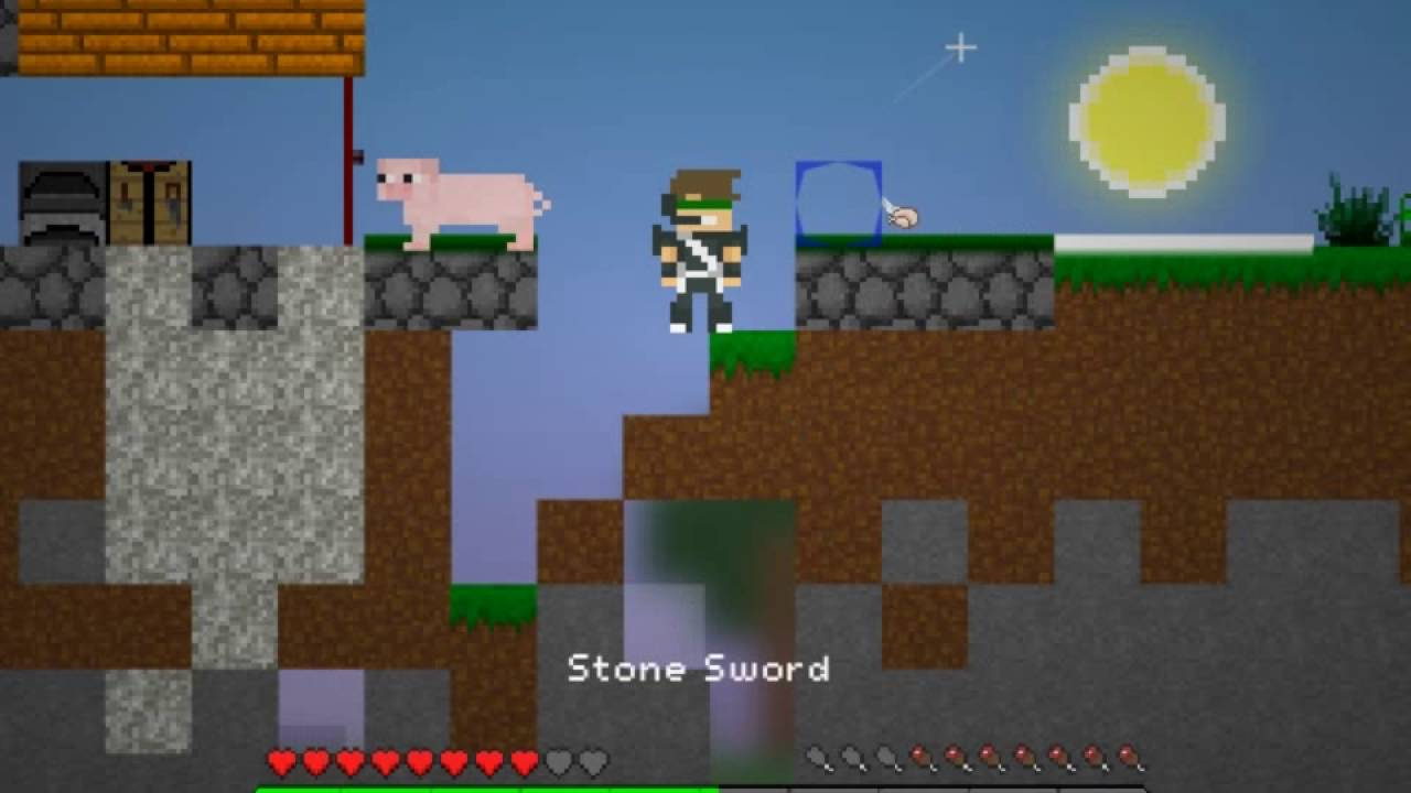 игры майнкрафт 2д на весь экран #9