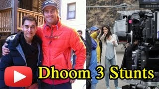 Aamir Khan Katrina Kaif Dhoom 3 Climax Scene Shoot- PHOTOS