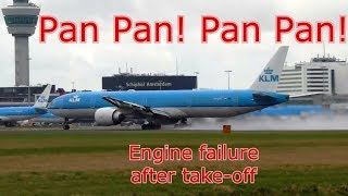 PAN PAN Engine KLM 787 Amsterdam Dec 10 flight 891 ATC