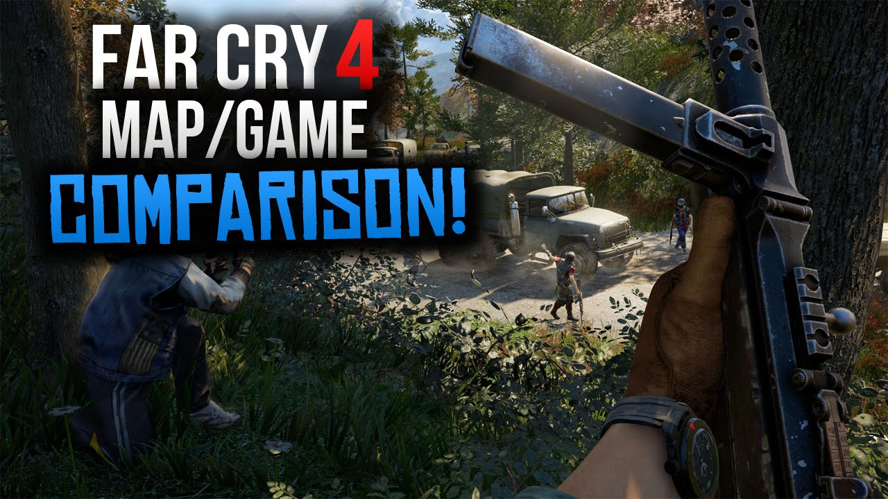 Far Cry 4 Map Vs Far Cry 3 Gameplay Differences Size More Far Cry Superrebel Youtube