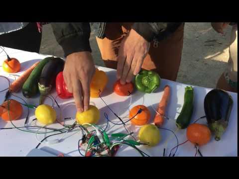 Piano à légumes en libre essai au festival CaveCarli / Marsat