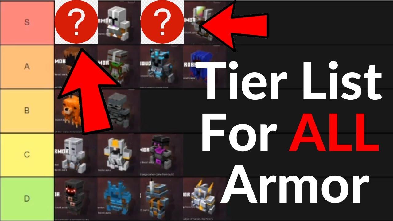 Minecraft Dungeons BEST Armor RANKED - Best Unique Armor Tier List