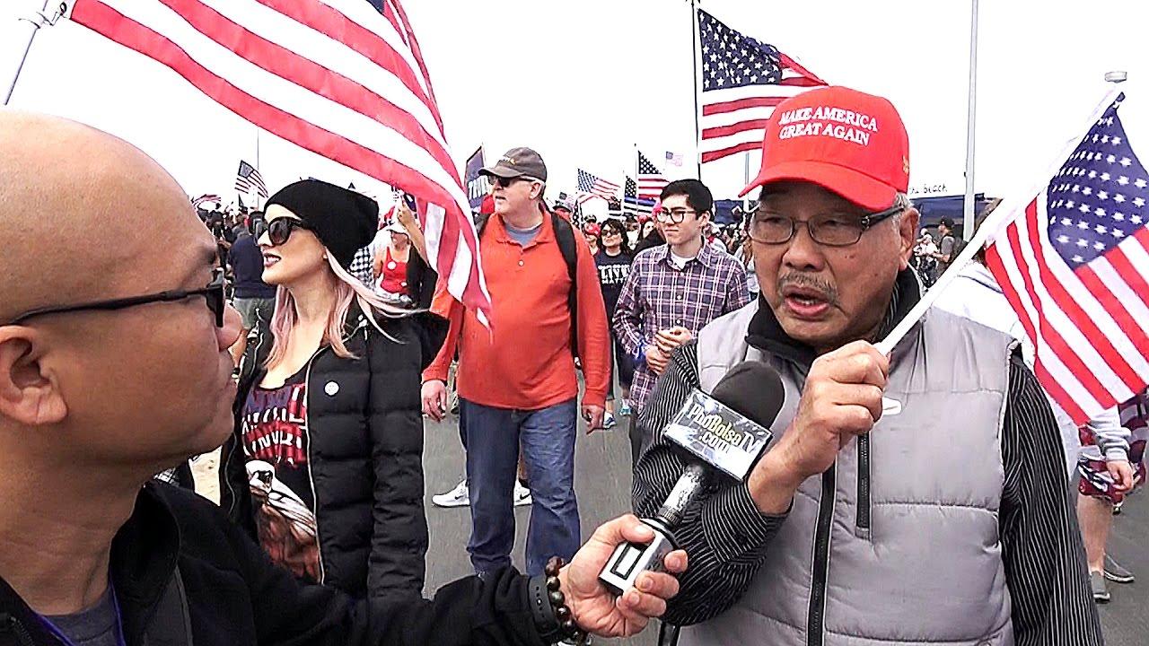 Cựu sĩ quan VNCH Bằng Phong Đặng Văn Âu biểu tình ủng hộ TT Trump - YouTube