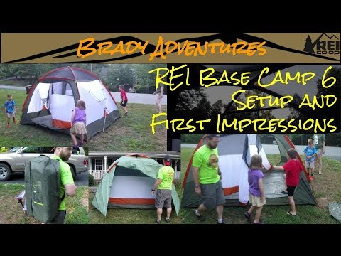The Amazing REI Base C& 6 Tent Setup and First Impressions & The Amazing REI Base Camp 6 Tent Setup and First Impressions - YouTube
