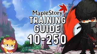 MapleStory Training Guide Level 10 to 250 | Reboot & Regular | GMS | 2021