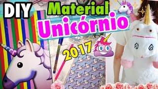 DIY MATERIAL MÁGICO DE UNICÓRNIO 🦄 ✨| Back to School Unicorn. Ft: Juliana Sartori