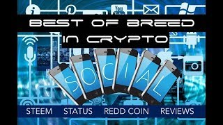 Best Altcoins in Social Media Cryptocurrency - Steem, Status SNT, and Redd Coin RDD