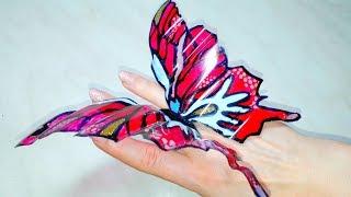 Как сделать бабочек из пластиковых бутылок/Mariposa