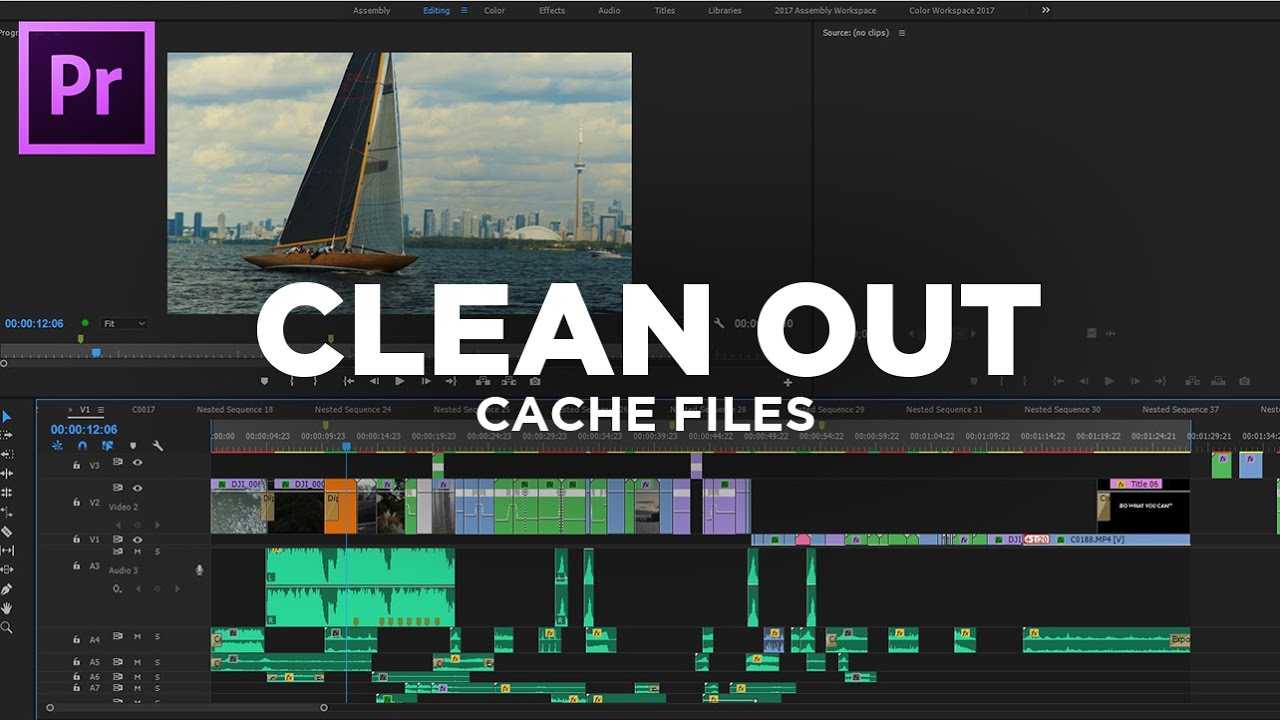 CLEAN OUT CACHE FILES – Adobe Premiere Pro CC