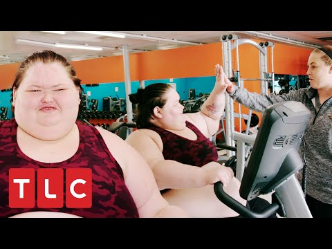 Amy vai para a academia pela primeira vez na vida | Amy e Tammy: Irmãs contra o peso | TLC Brasil