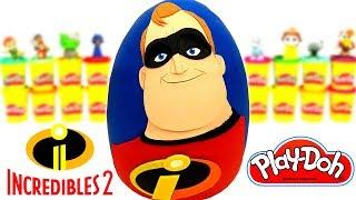 Huevo Sorpresa Gigante de Mr Increíble de Los Increíbles 2 en Español de Plastilina Play Doh