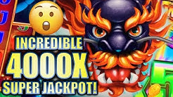 ★OVER 4000X!! GUY WINS SUPER JACKPOT! 😮★ 5 DRAGONS GRAND Slot Machine Bonus BIG WIN (Aristocrat)