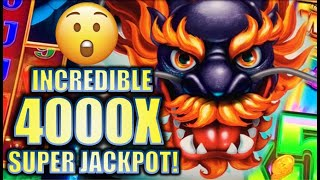 ★OVER 4000X!! GUY WINS SUPER JACKPOT! 😮★ 5 DRAGONS GRAND Slot Machine Bonus BIG WIN (Aristocrat)