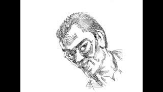 遠藤憲一さんのデフォルメ似顔絵を描いてみました。制作:照井正邦、音...