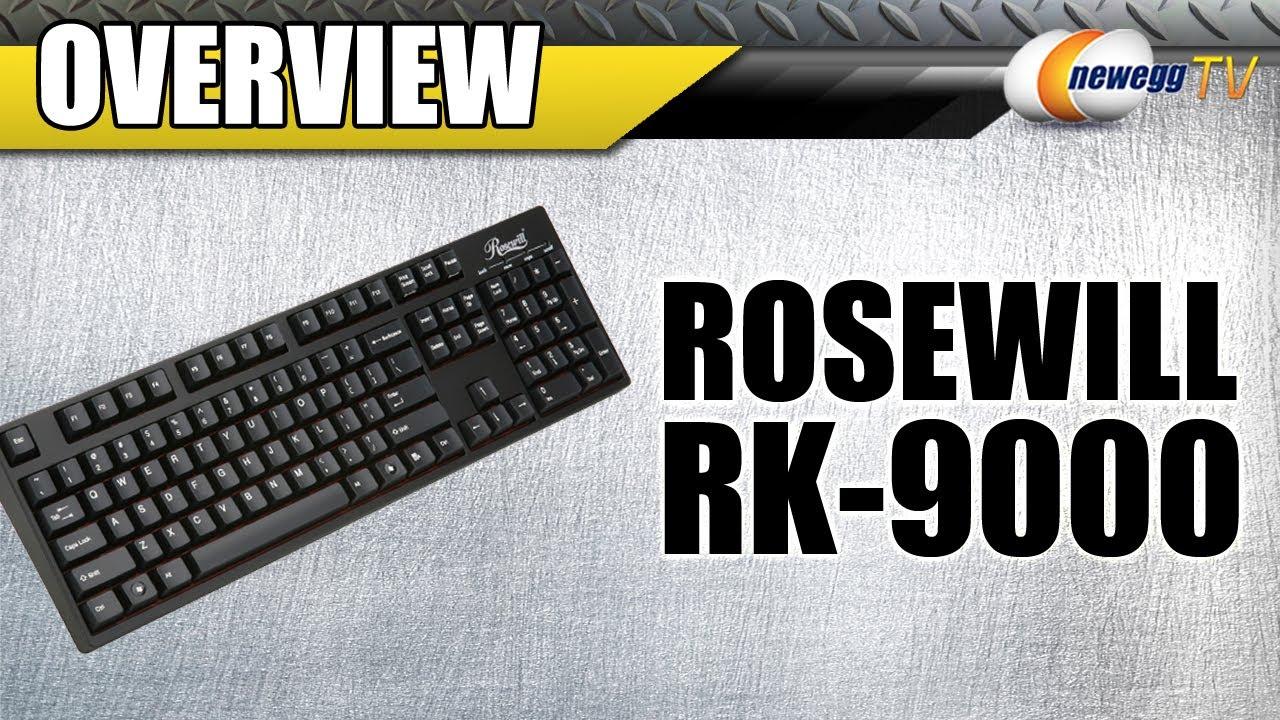 fdafd82678d Rosewill Mechanical Keyboard RK-9000 with Cherry MX Blue Switch - Newegg.com