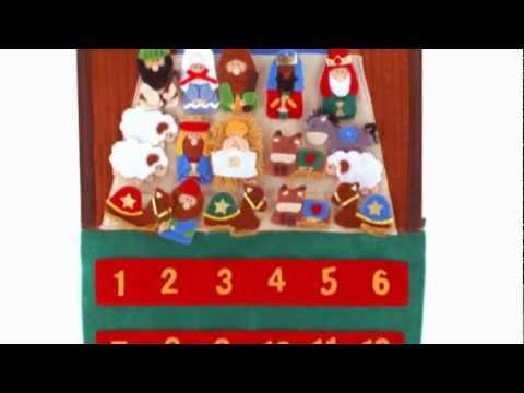 Felt Advent Calendar with Velcro figures