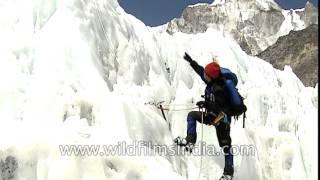 Glacier icework practice in Nepal