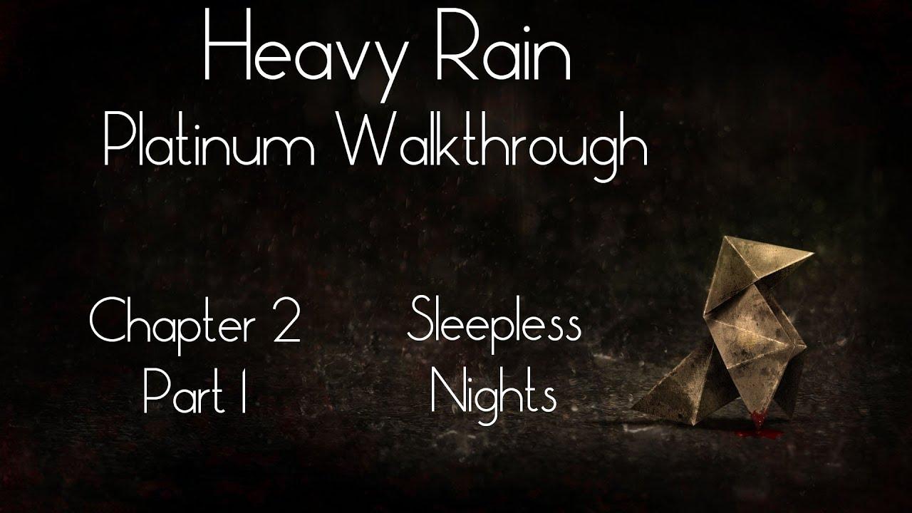 Heavy Rain Platinum Walkthrough - Chapter 2 - Part 1 ...