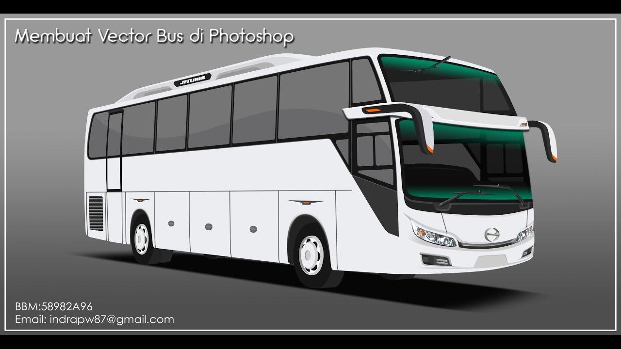 Cara Membuat Vector Bis Di Photoshop Medium Bus Part1 Youtube