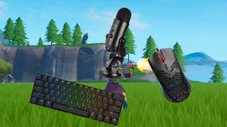 Relaxing Keyboard Sounds + Mouse Sounds And Chill Music   Fortnite Gameplay