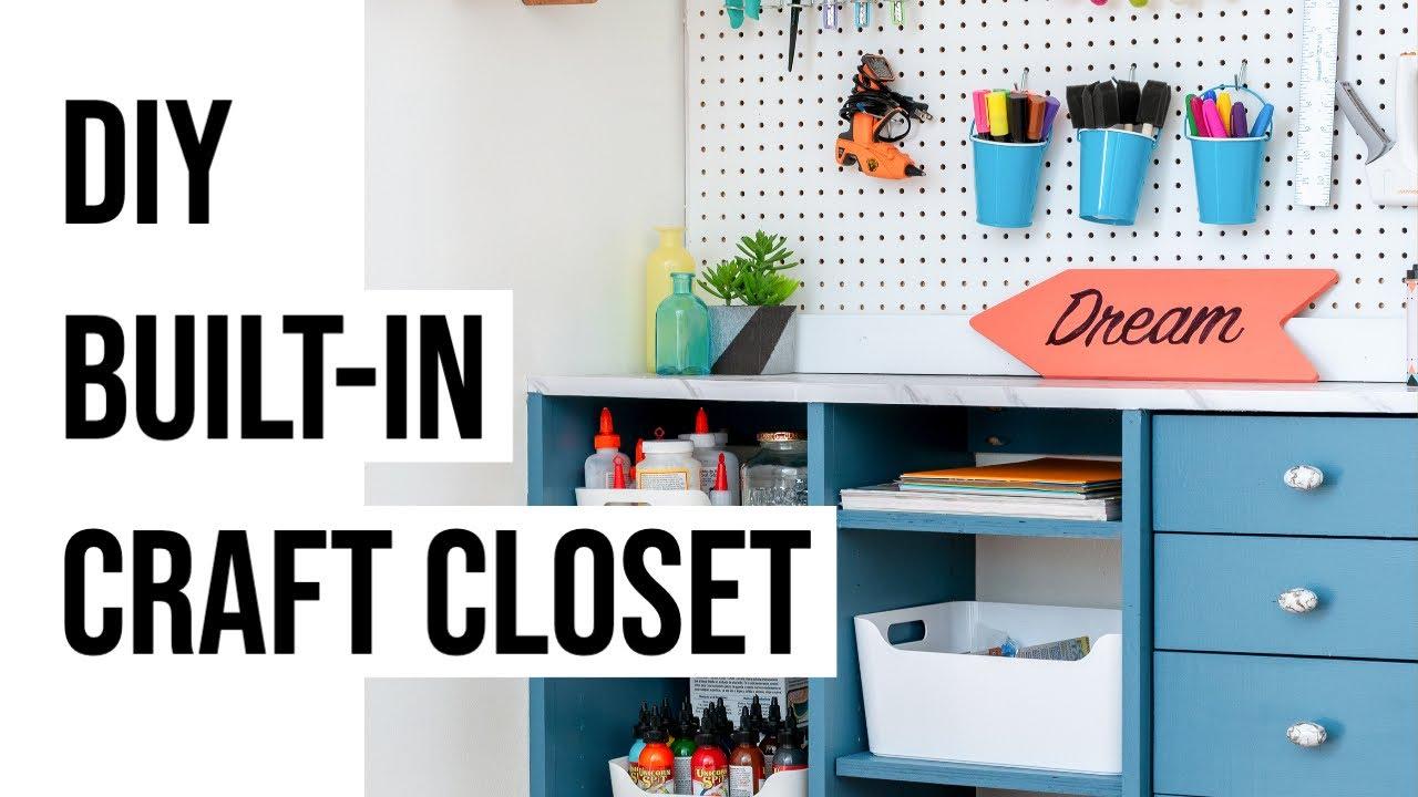 Superieur DIY Closet Organizer  How To Build A Craft Closet   Anikau0027s DIY Life