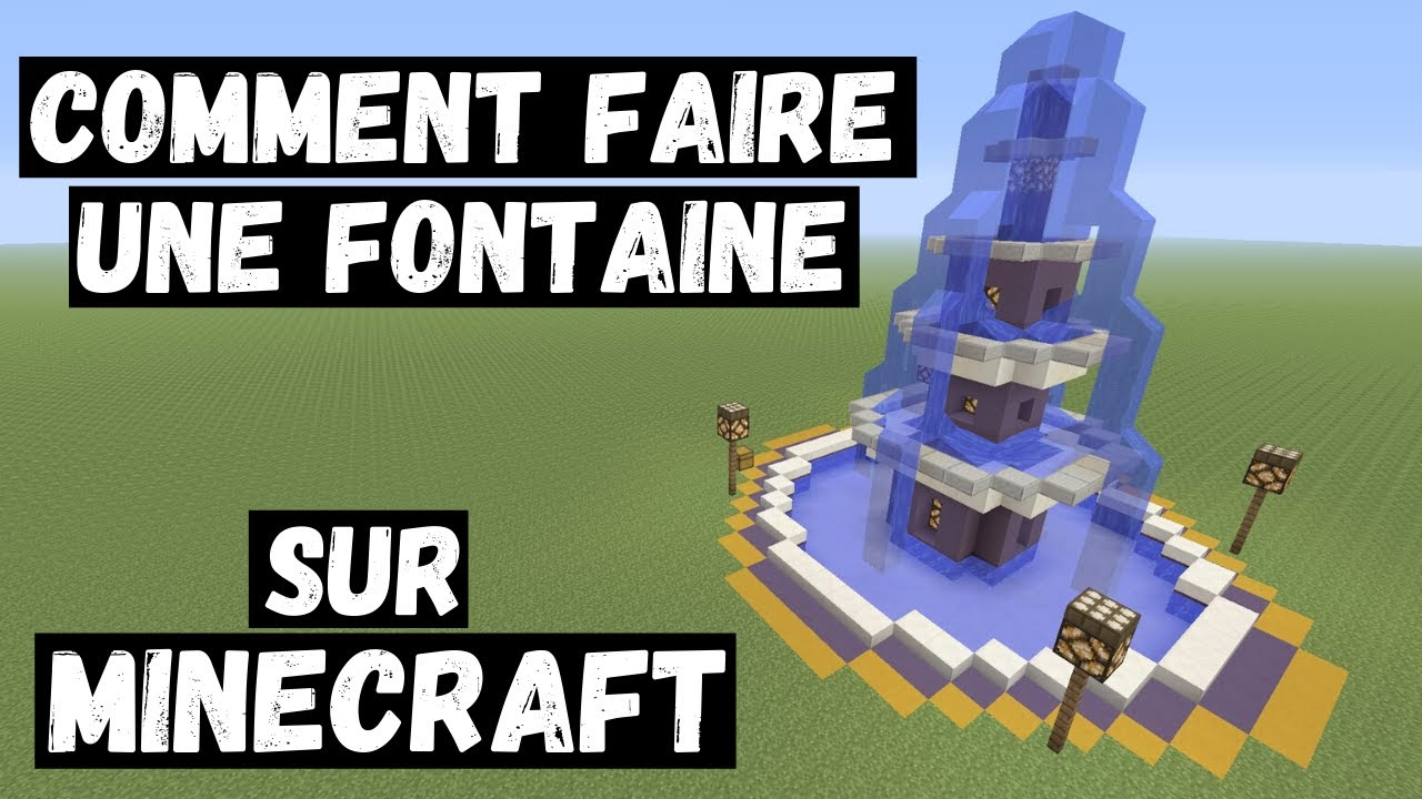 TUTOMinecraft Comment faire une fontaine   YouTube