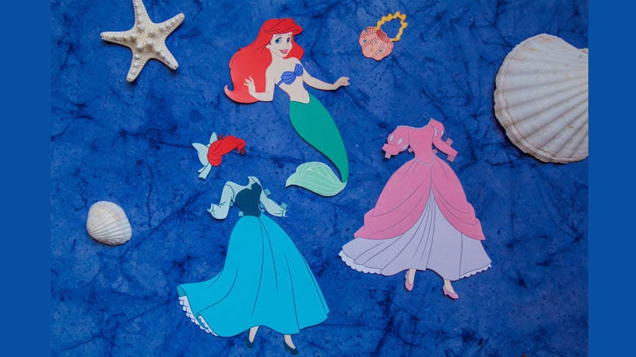DISNEY PRINCESS How To Make Ariel Paper Doll For Kids From Papercraft 99