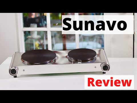 SUNAVO ❤️   Portable Electric 2 Burner Hot Plate - Review  ✅ Discount Code !!!