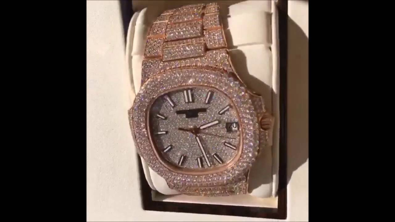 Rapper plies shows off his new diamond watch bling for Rapper watches