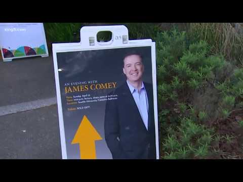 WATCH: James Comey addresses 'friendly crowd' in Seattle