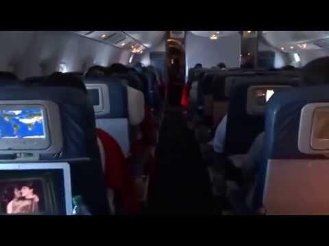 London Heathrow to New York JFK Delta 767-400 Economy Comfort September 2013