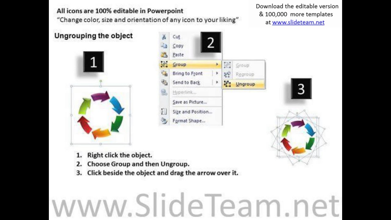 circle arrows cycle chart powerpoint templates cycle ppt slides, Modern powerpoint