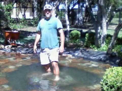Koi pond installation austin texas pondless waterfalls for Koi pond installation